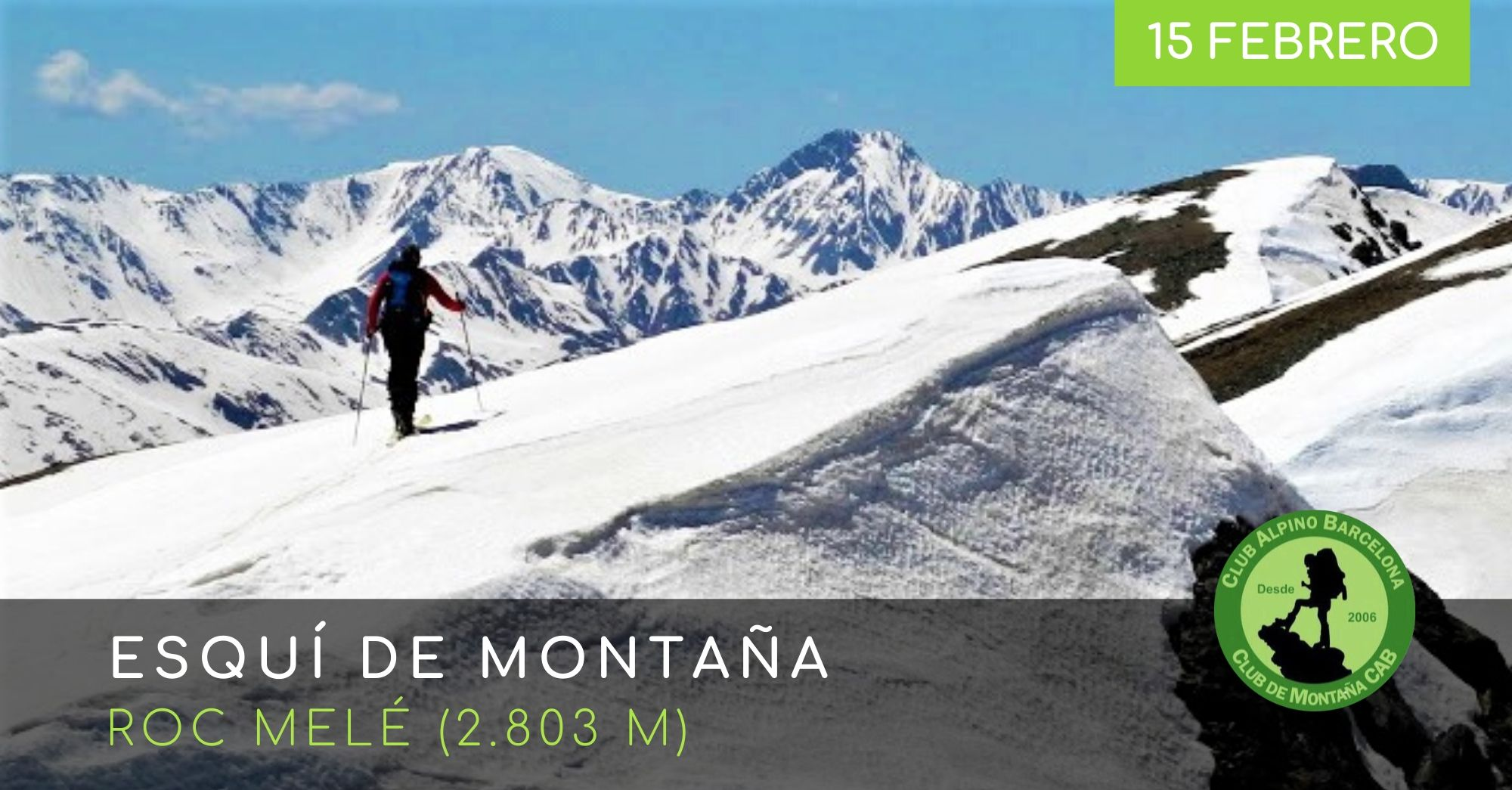 esqui de montaña roc melé