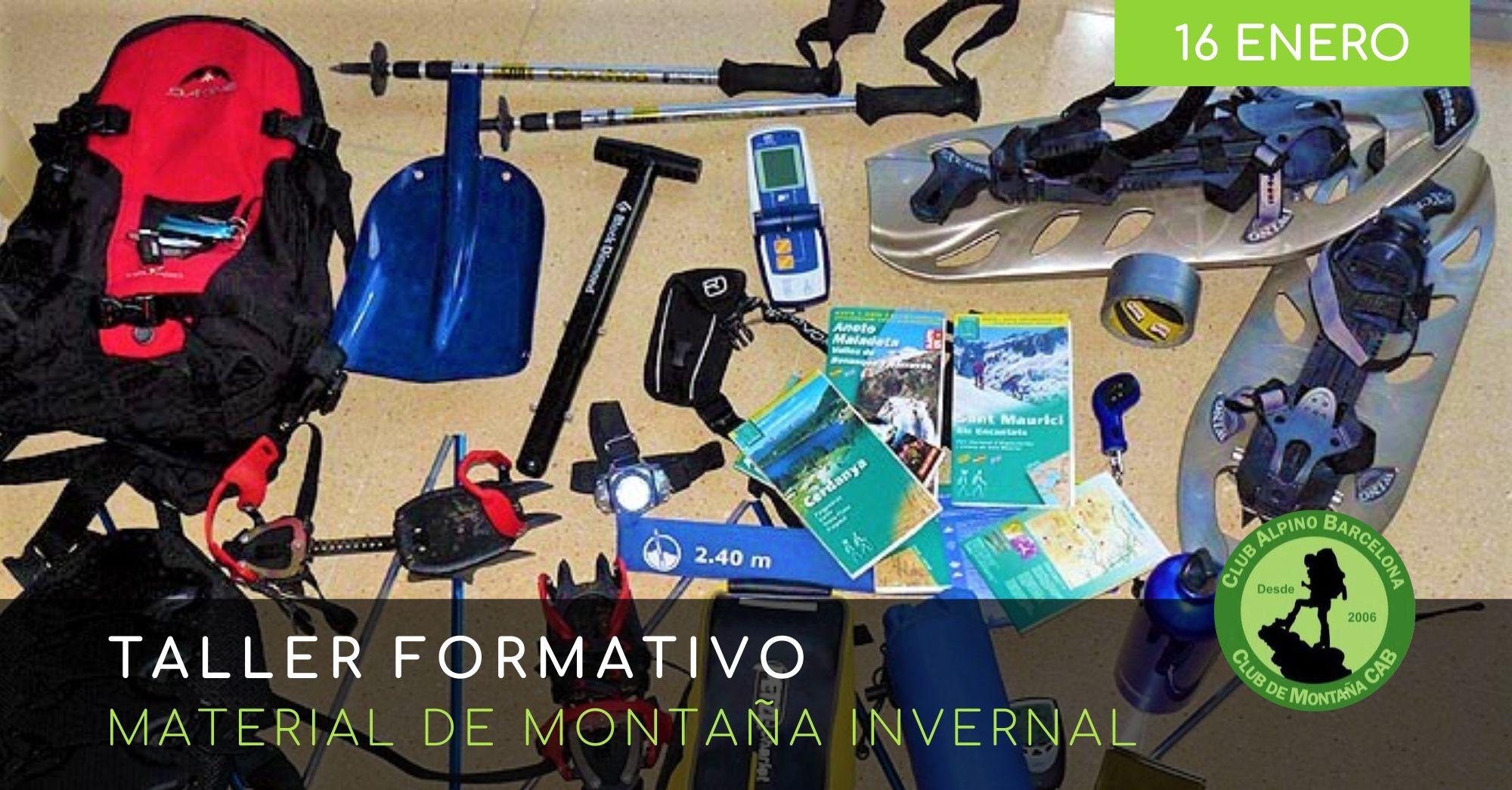 TALLER MATERIAL MONTAÑA INVERNAL