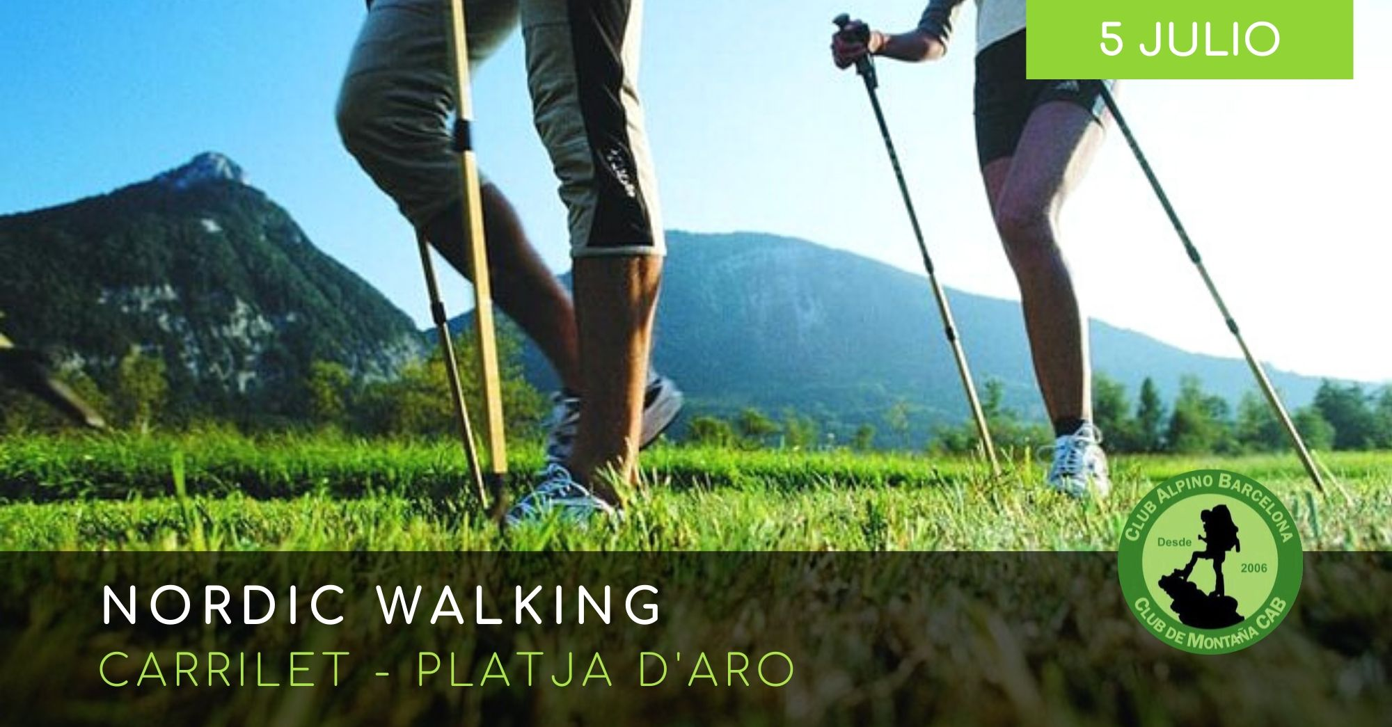 carrilet platja d'aro Nordic Walking